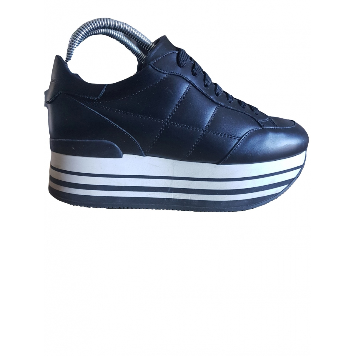 Hogan \N Black Leather Trainers for Women 38 EU