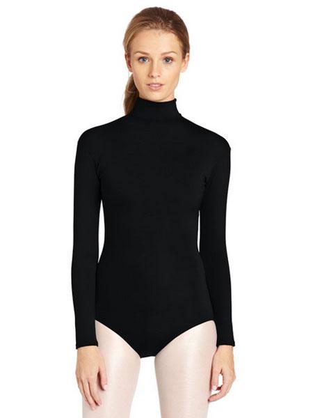 Milanoo Black Ballet Dance Costume Lycra Chic Teddies for Women