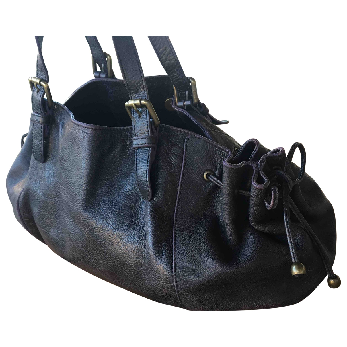 Gerard Darel 24h Black Leather handbag for Women \N
