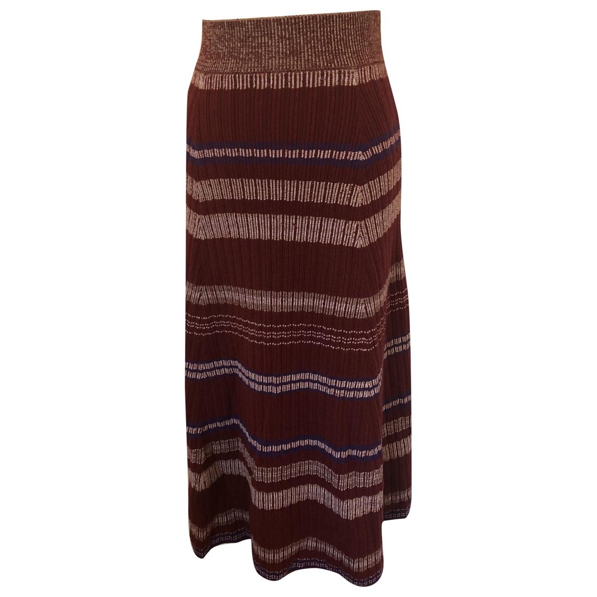 Kenzo \N Burgundy Wool skirt for Women S International