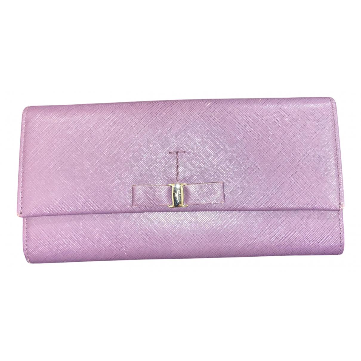 Salvatore Ferragamo \N Purple Leather wallet for Women \N
