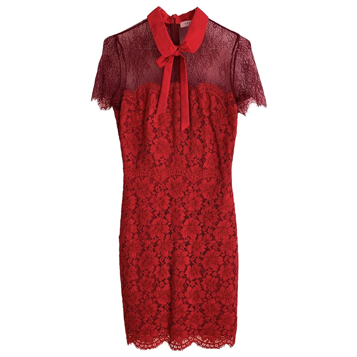 Sandro \N Red dress for Women 36 FR