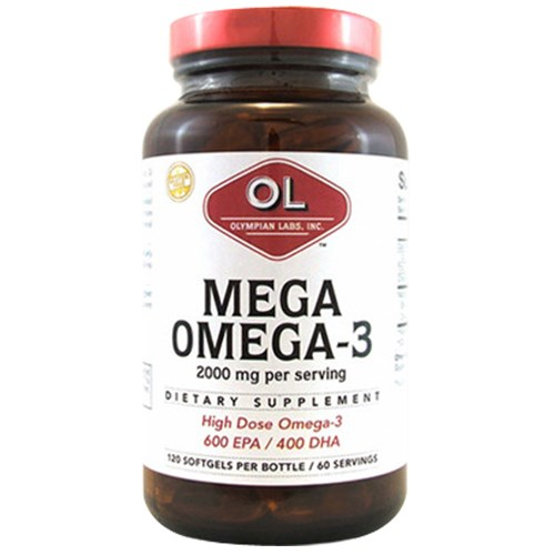 Mega Omega 3 Fish Oils 120 sg by Olympian Labs