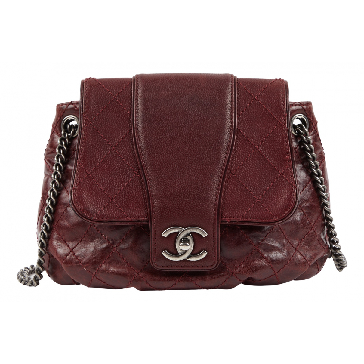 Chanel \N Burgundy Leather handbag for Women \N