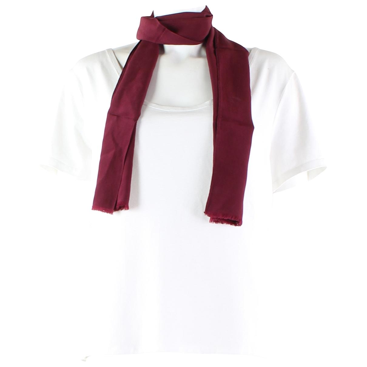 Yves Saint Laurent \N Burgundy Silk scarf for Women \N