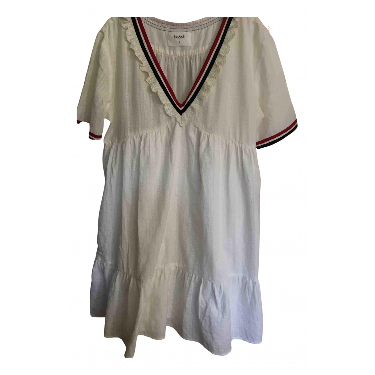Ba&sh \N White Cotton dress for Women 42 FR