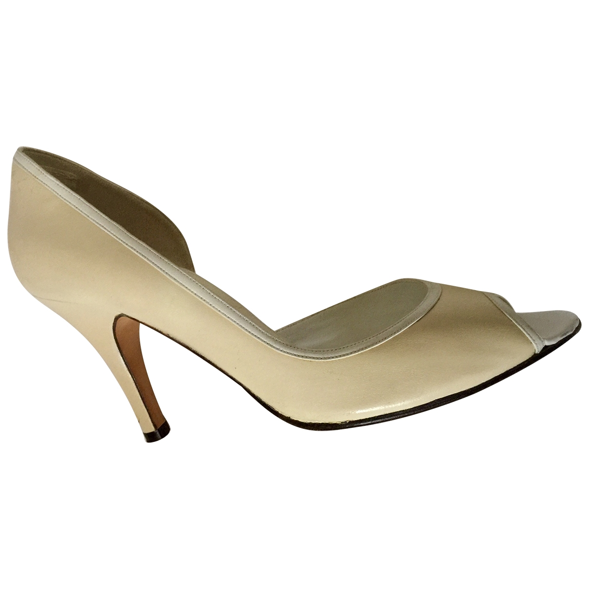 Joseph \N Ecru Leather Heels for Women 39 EU