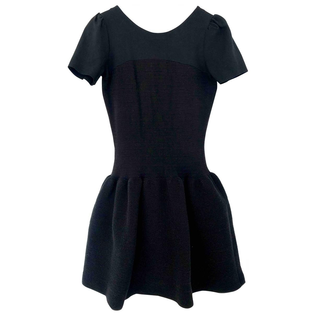 Maje \N Black Cotton - elasthane dress for Women M International