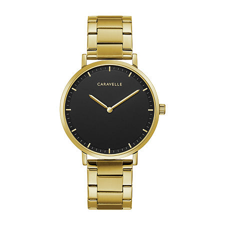 Caravelle Designed By Bulova Mens Gold Tone Stainless Steel Bracelet Watch-44a112, One Size , No Color Family