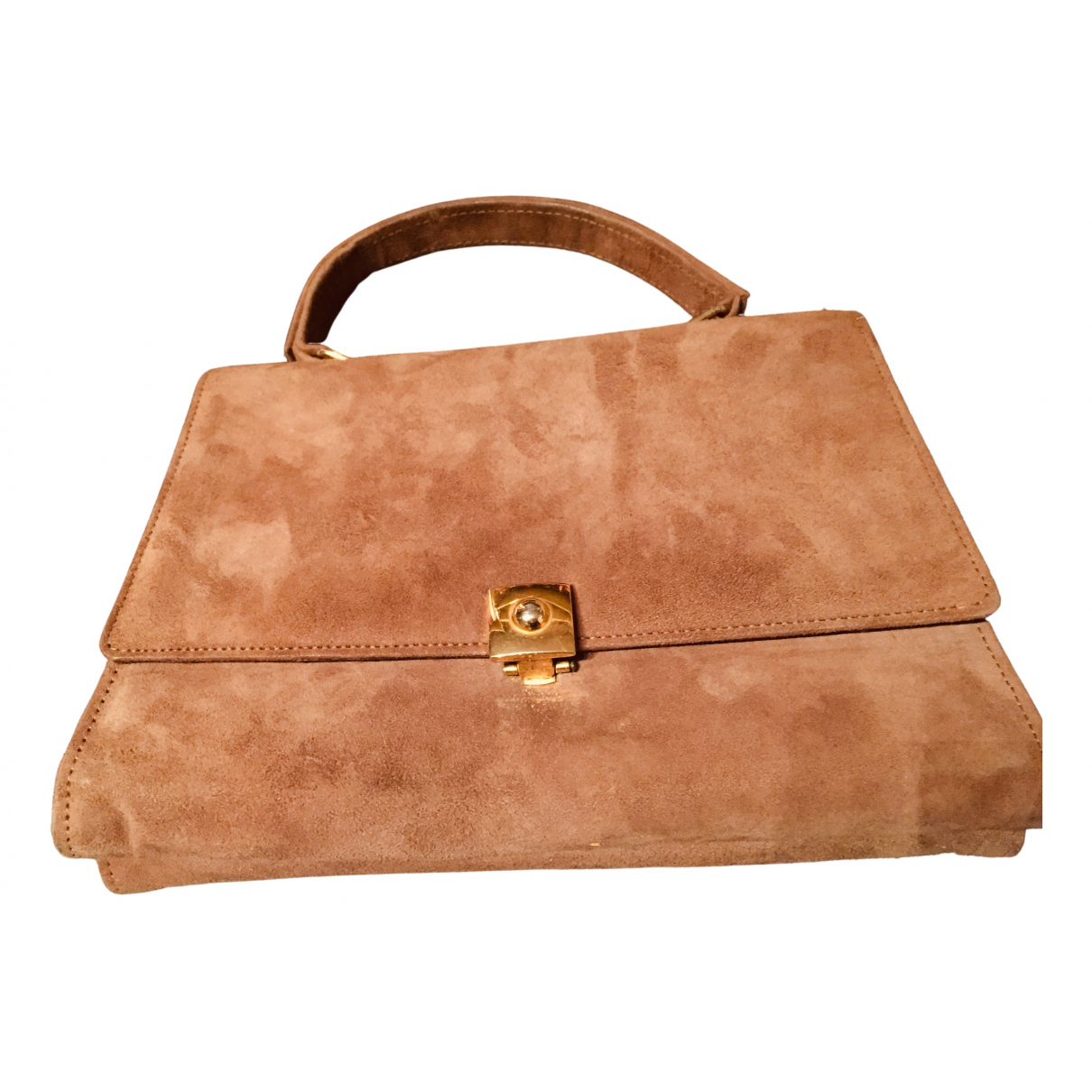 Non Signé / Unsigned \N Camel Suede handbag for Women \N