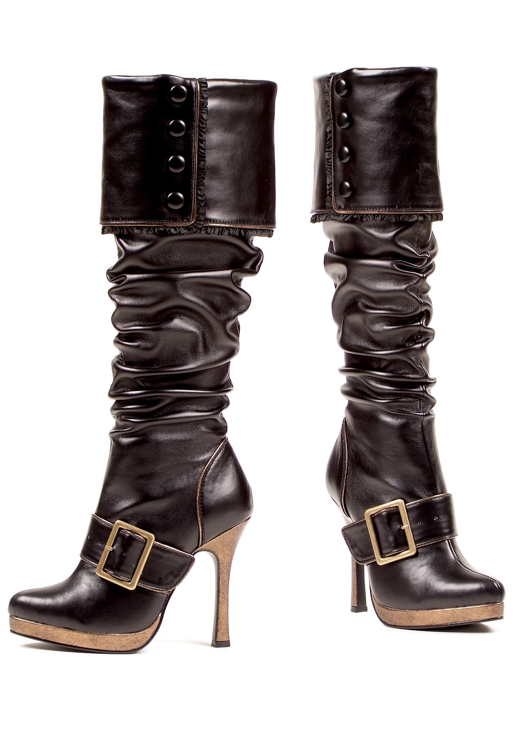 Women's Sexy Buckle Pirate Costume Boots