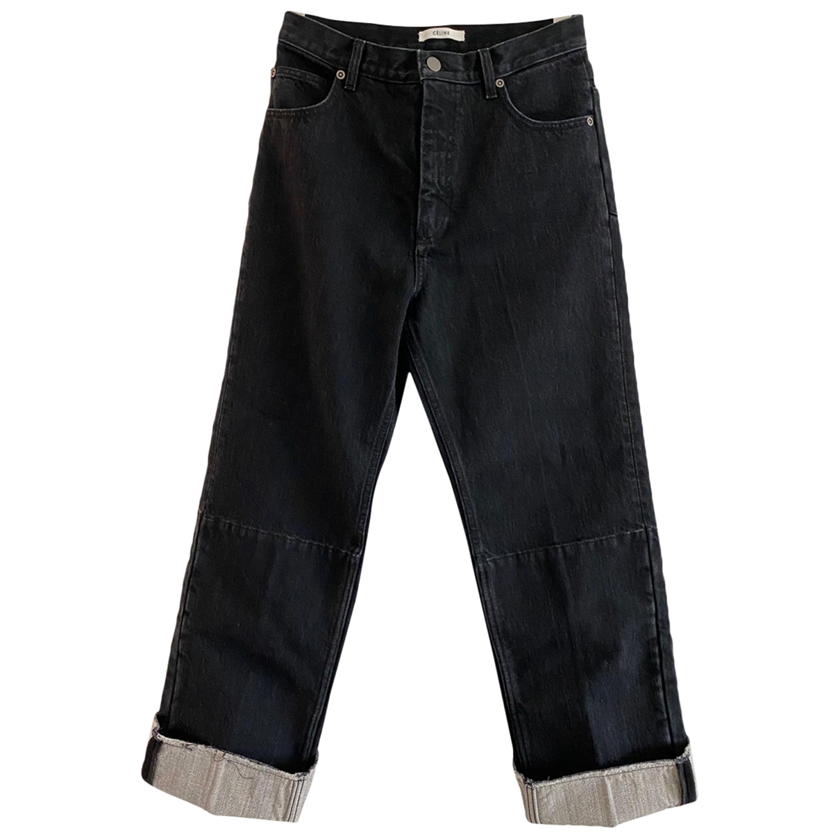 Celine \N Black Cotton Jeans for Women 40 FR