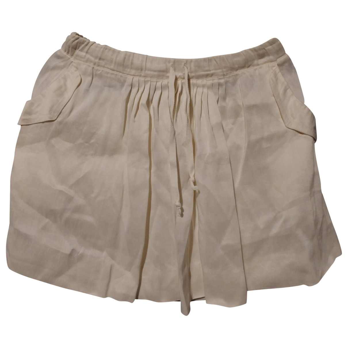 Sandro \N Beige Linen skirt for Women 1 0-5