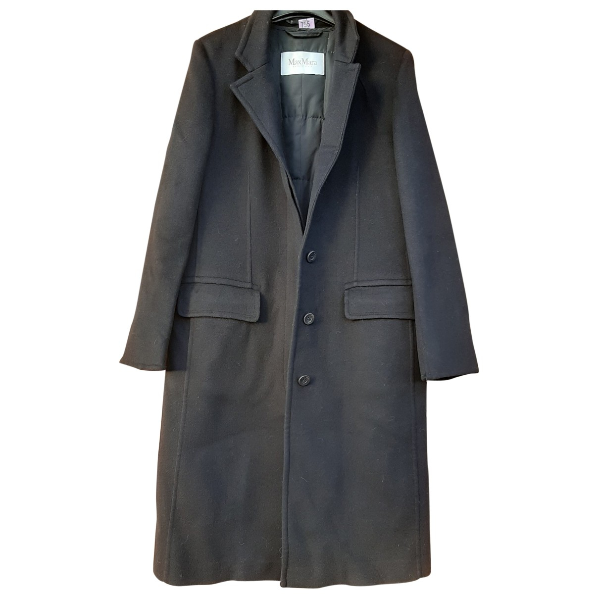 Max Mara \N Blue Wool coat for Women 42 IT