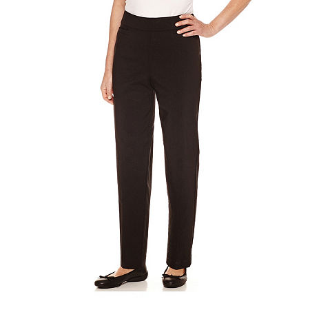 Alfred Dunner Classics Womens Allure Stretch Pant, 18 Short , Black