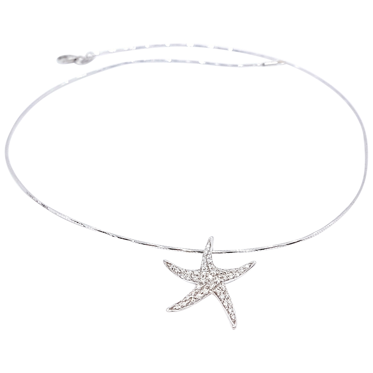 Non Signé / Unsigned Motifs Etoiles Silver White gold necklace for Women \N