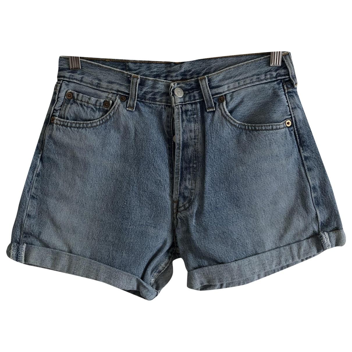 Levi's \N Blue Cotton Shorts for Women 42 IT
