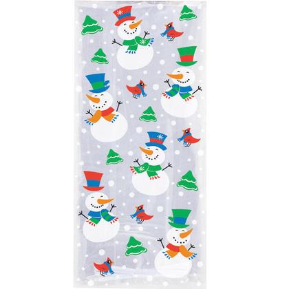 Snowman Glee Cellophane Bags, 11