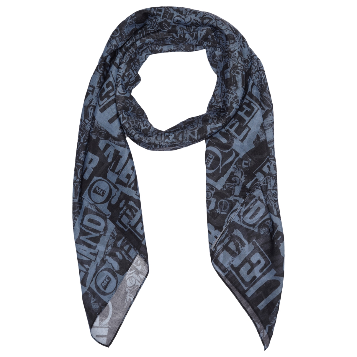 Mcq \N Blue Cotton scarf for Women \N