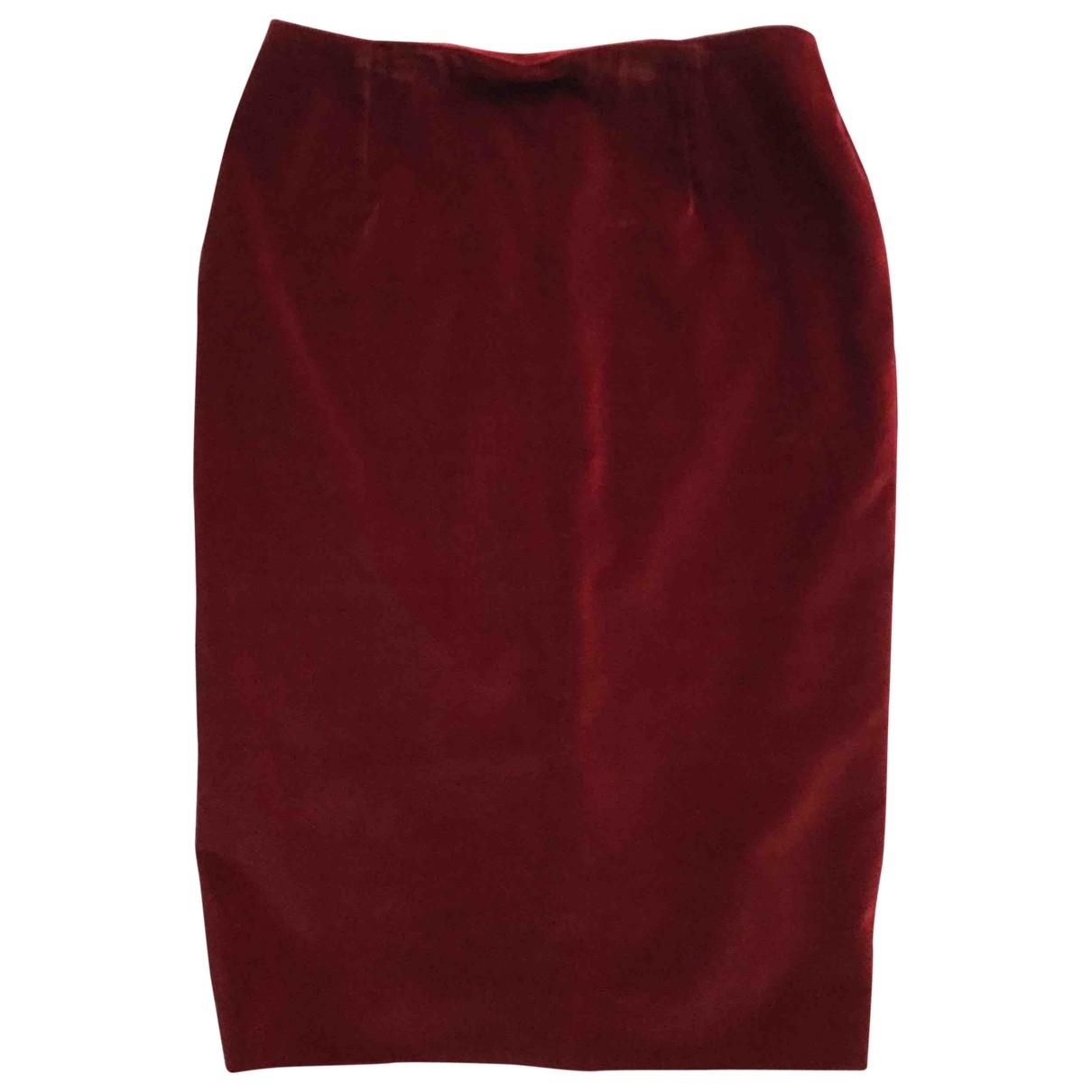 Dior \N Burgundy Velvet skirt for Women 38 FR