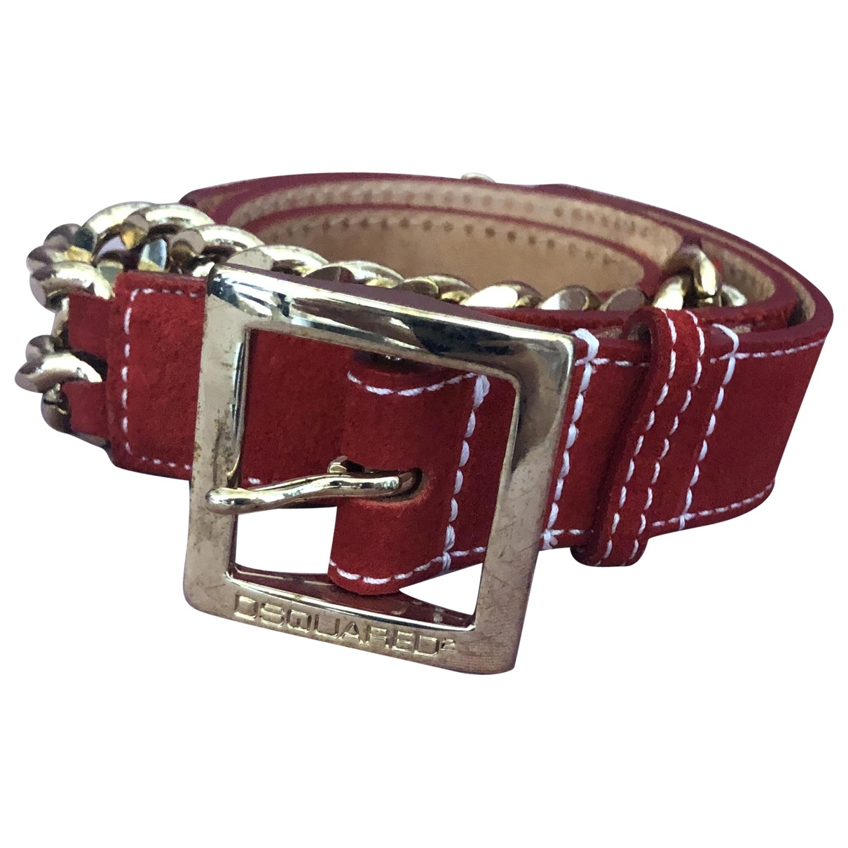 Dsquared2 \N Red Suede belt for Women S