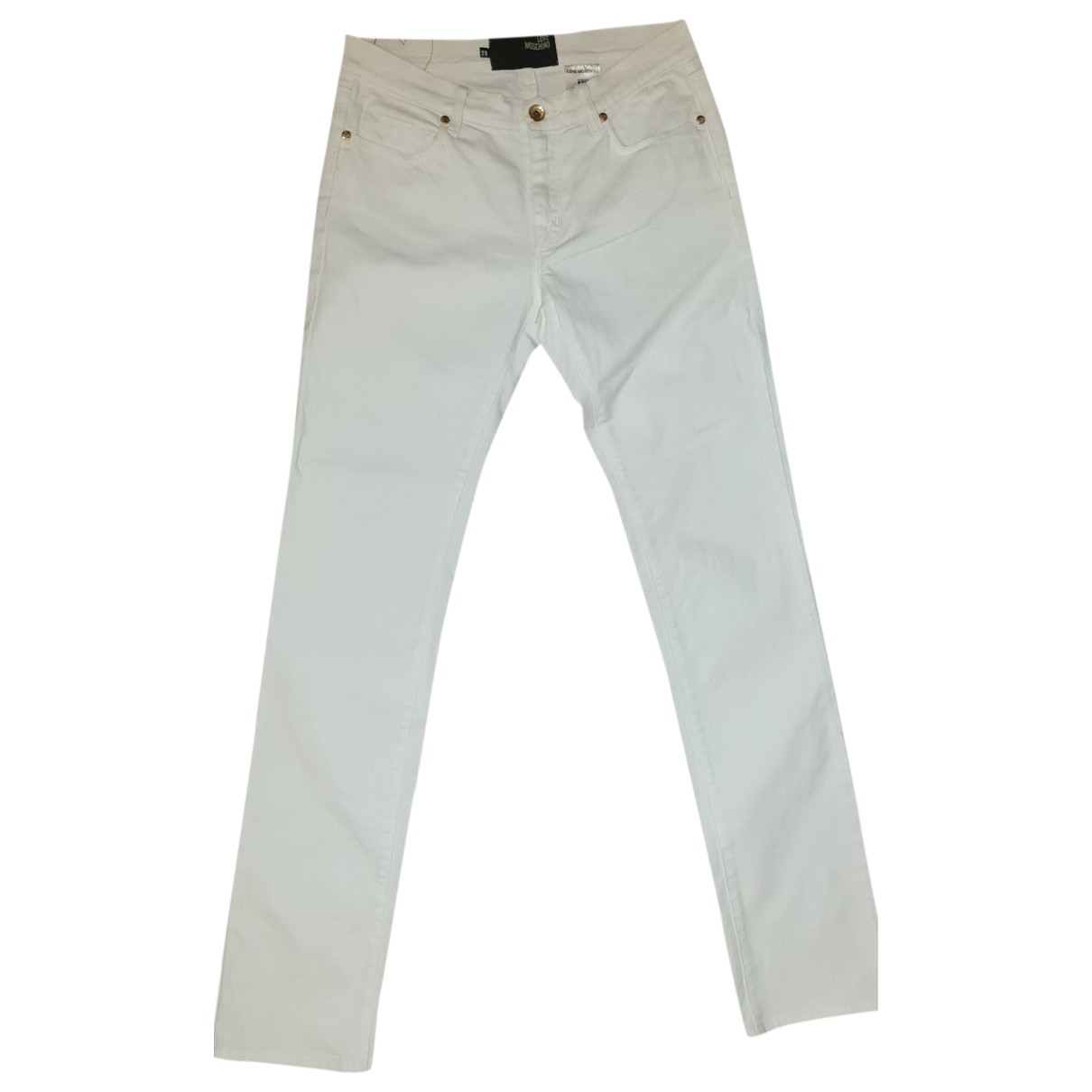Moschino Love \N White Cotton Jeans for Women 38 FR