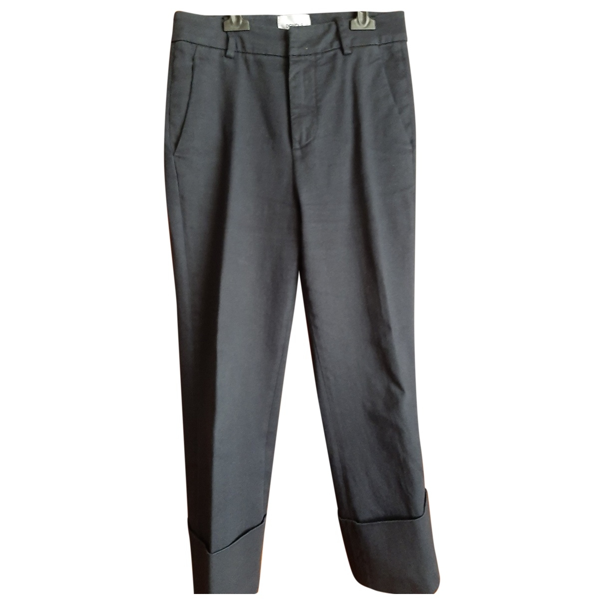 Dondup \N Blue Cotton Trousers for Women 42 IT