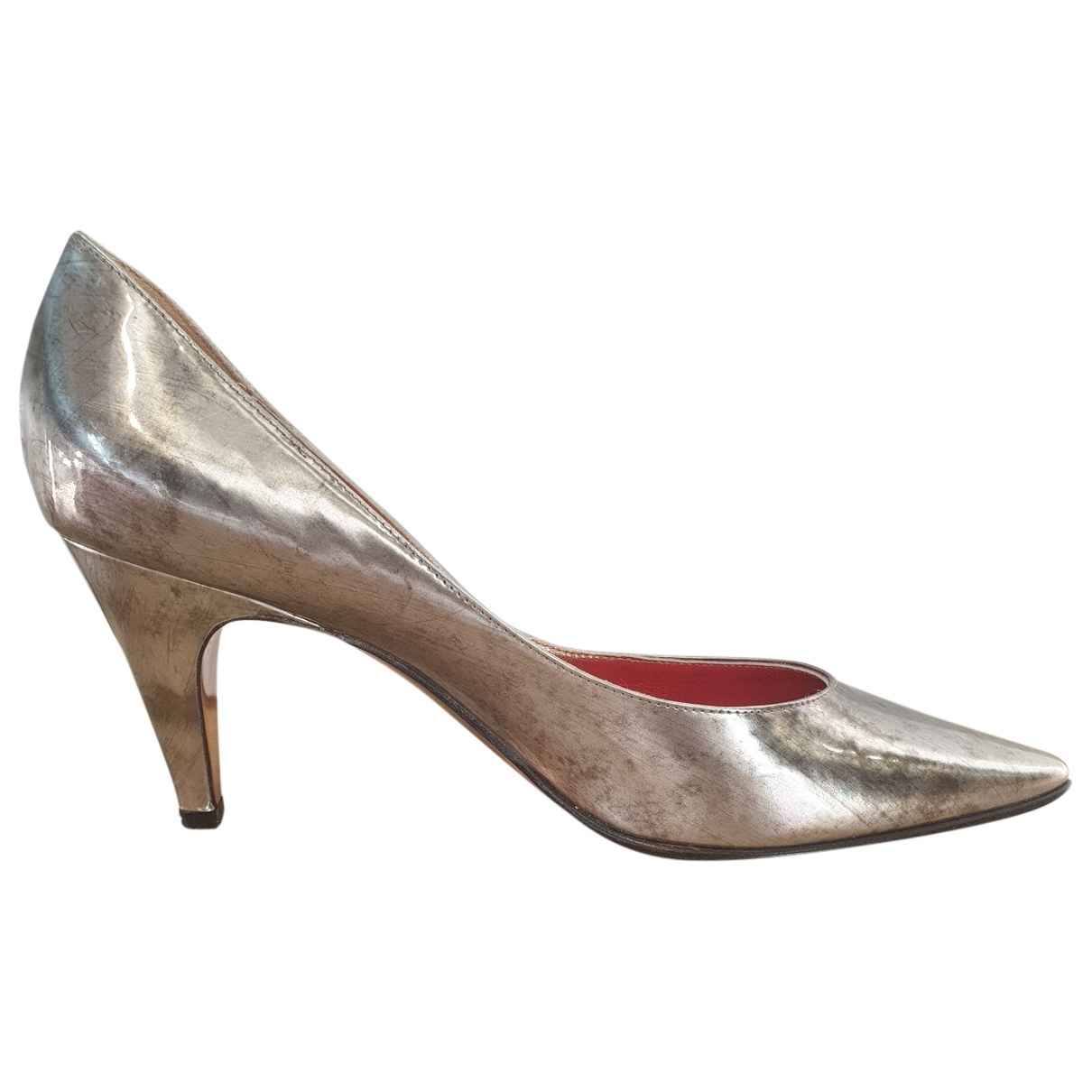Christian Lacroix \N Silver Patent leather Heels for Women 38.5 EU