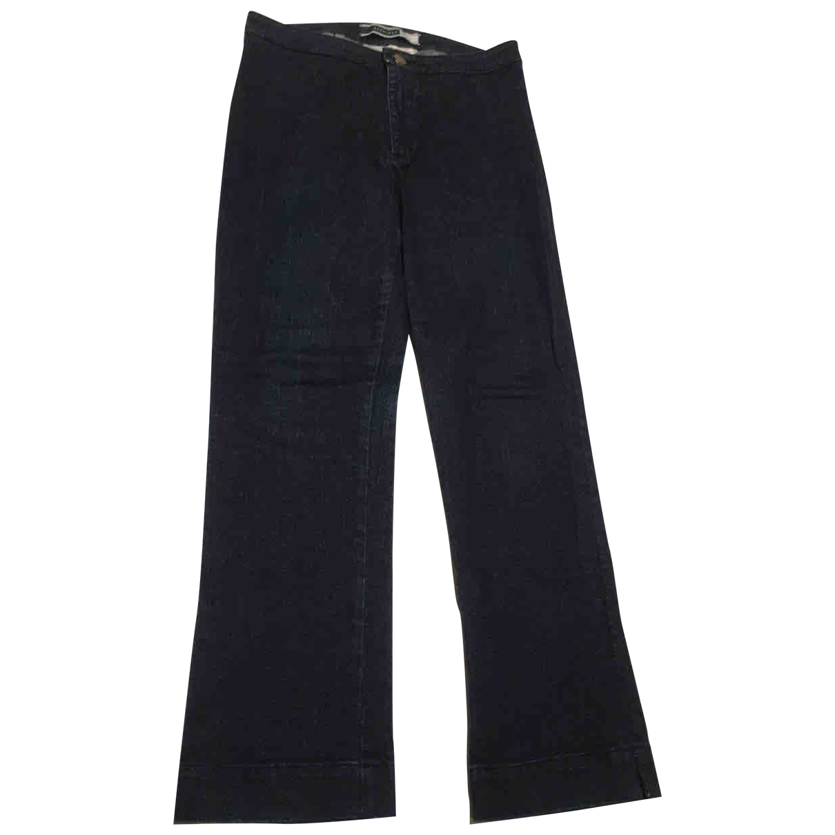 Sport Max \N Blue Cotton Trousers for Women 38 FR