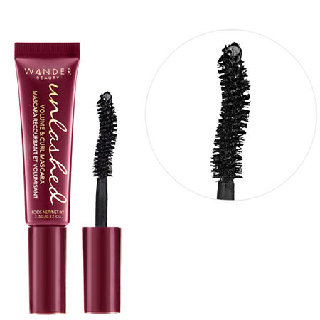 Wander Beauty Mini Unlashed Volume and Curl Mascara, One Size , Black