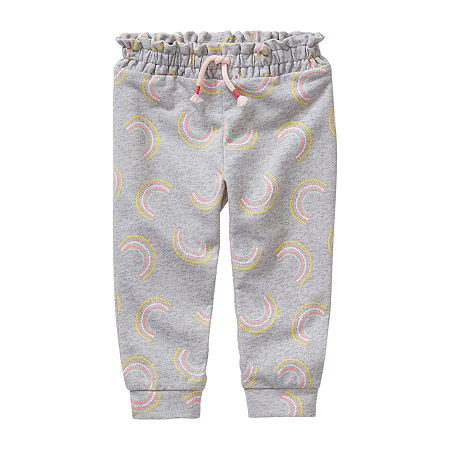 Okie Dokie Baby Girls Cuffed Jogger Pant, 24 Months , Gray