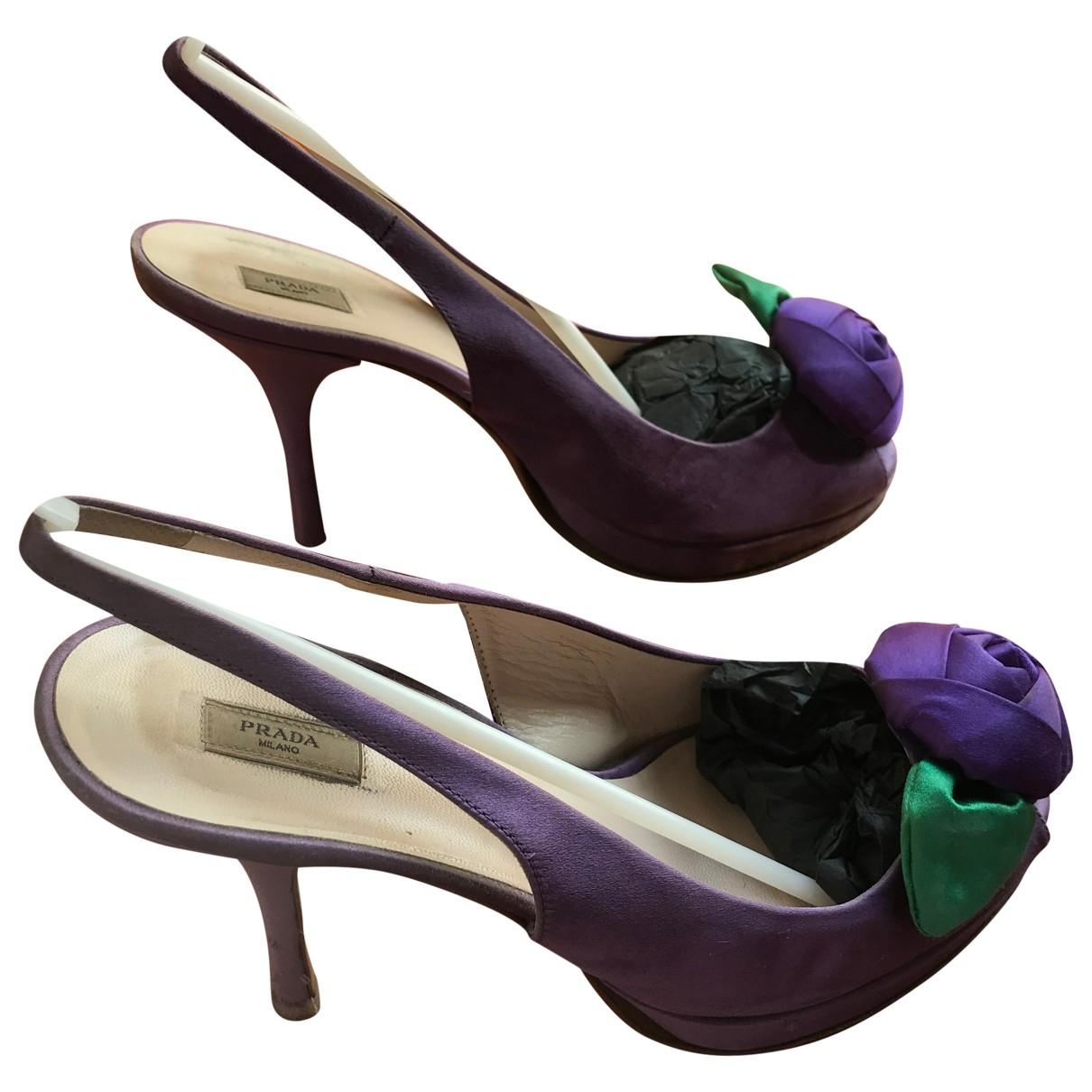 Prada \N Purple Cloth Heels for Women 39 EU