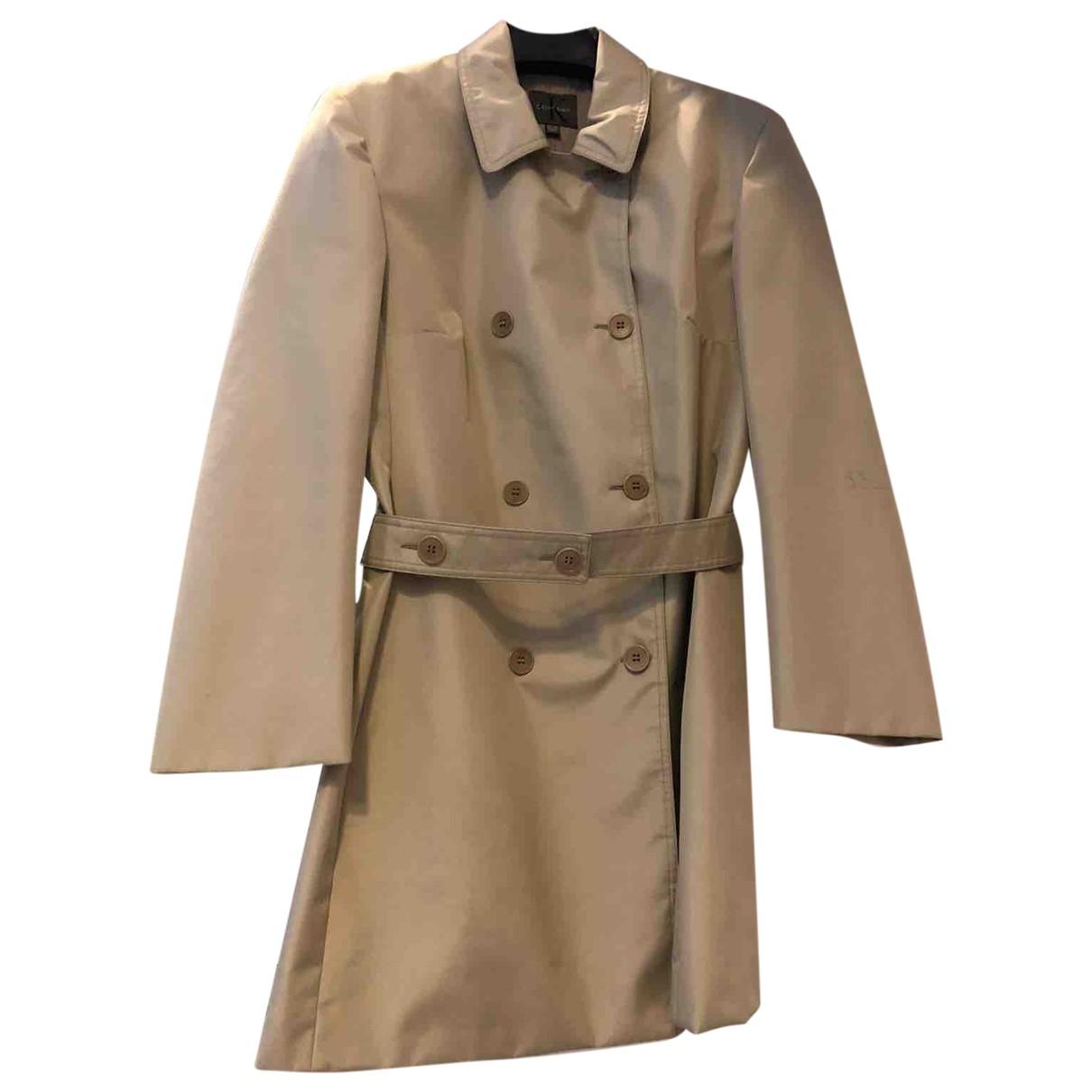 Calvin Klein \N Beige Trench coat for Women 10 US