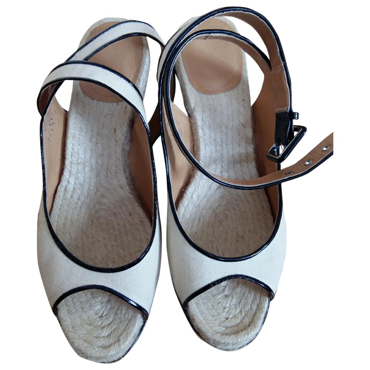 Hermès \N Beige Cloth Espadrilles for Women 40 EU