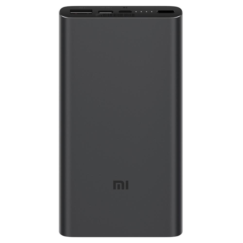 Xiaomi Mi3 10000mAh Power Bank USB-C Two-way Fast Charge - Black