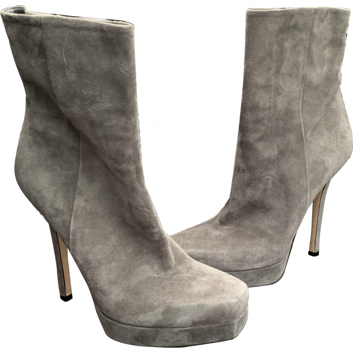 Gucci \N Grey Suede Ankle boots for Women 39 EU