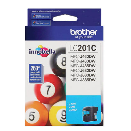 Brother LC201C Original Cyan Ink Cartridge