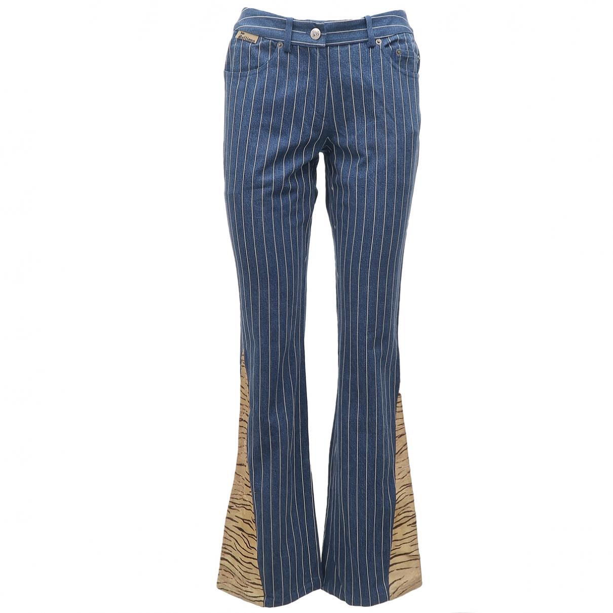 John Galliano \N Blue Cotton - elasthane Jeans for Women 40 FR