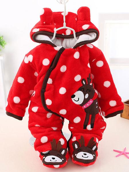 Milanoo Kigurumi Pajamas Onesie Flannel Jumpsuit Toddler Christmas Costume