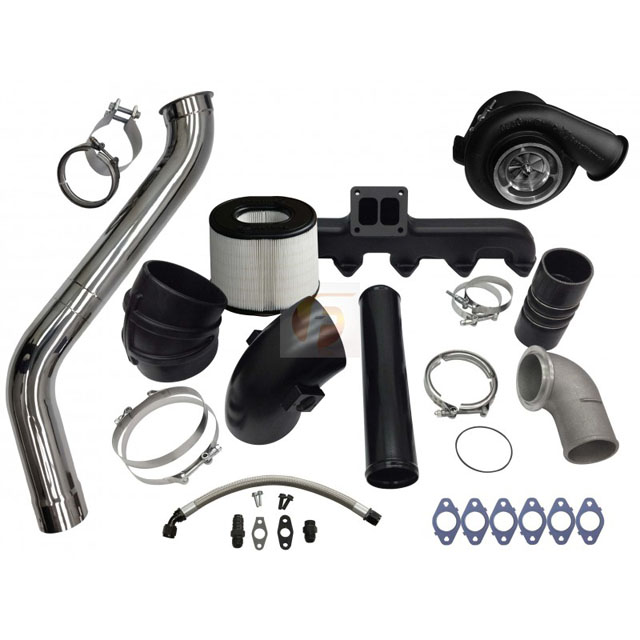Fleece Performance FPE-593-2G-75-SS 2nd Gen Swap Kit with T4 Steed Speed Manifold and S475 Turbocharger For 3rd Gen 5.9L Cummins 2003-2007