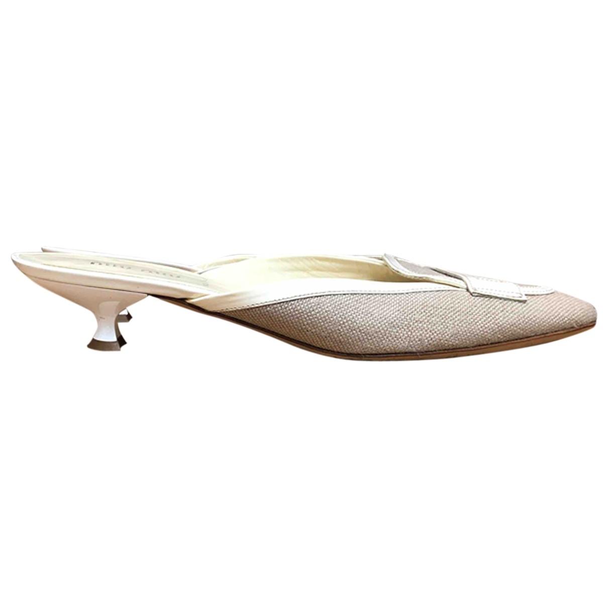 Miu Miu \N Khaki Cloth Sandals for Women 39.5 EU