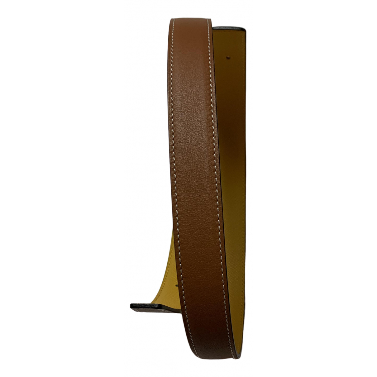 Hermès Cuir seul / Leather Strap Brown Leather belt for Women S International
