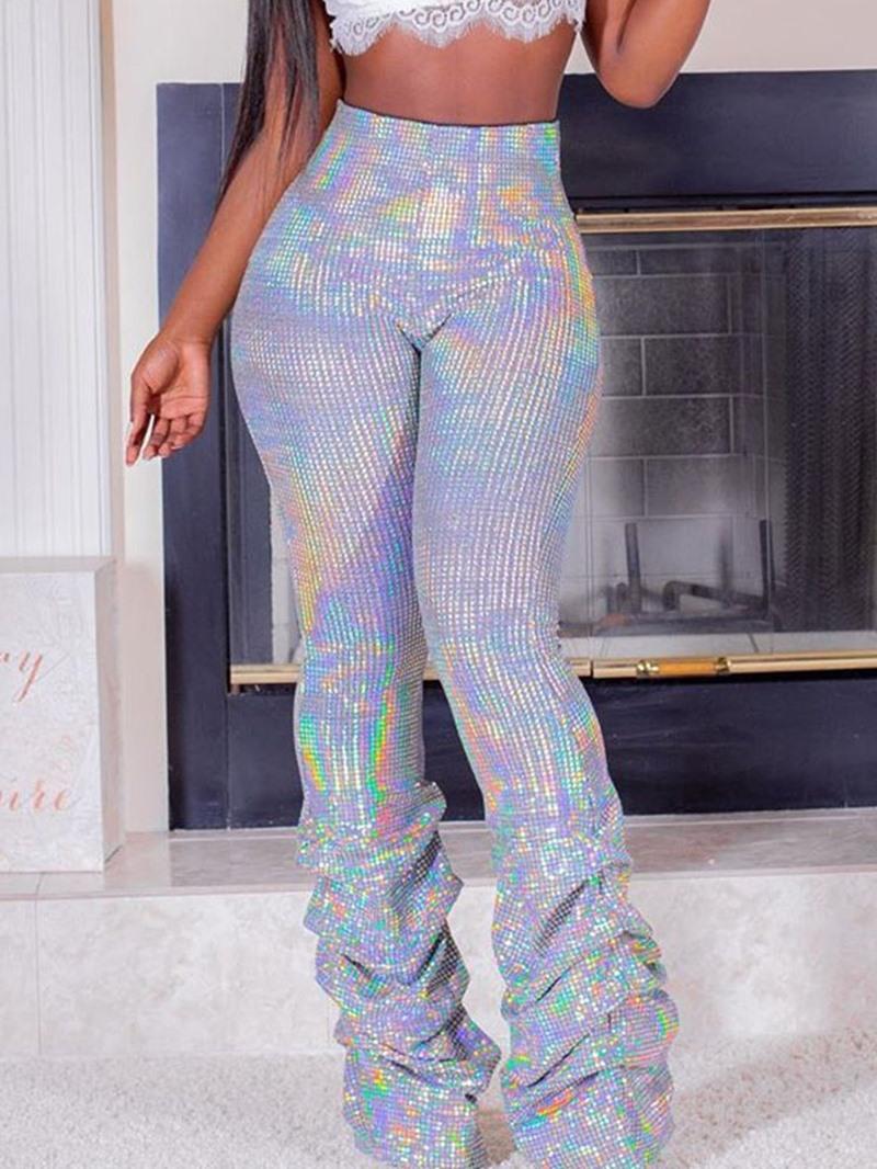 Ericdress Slim Pleated Plain Full Length Casual Pants