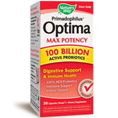 Primadophilus Optima Max Potency 100 Billion Active Probiotics 30 vcaps by Nature's Way