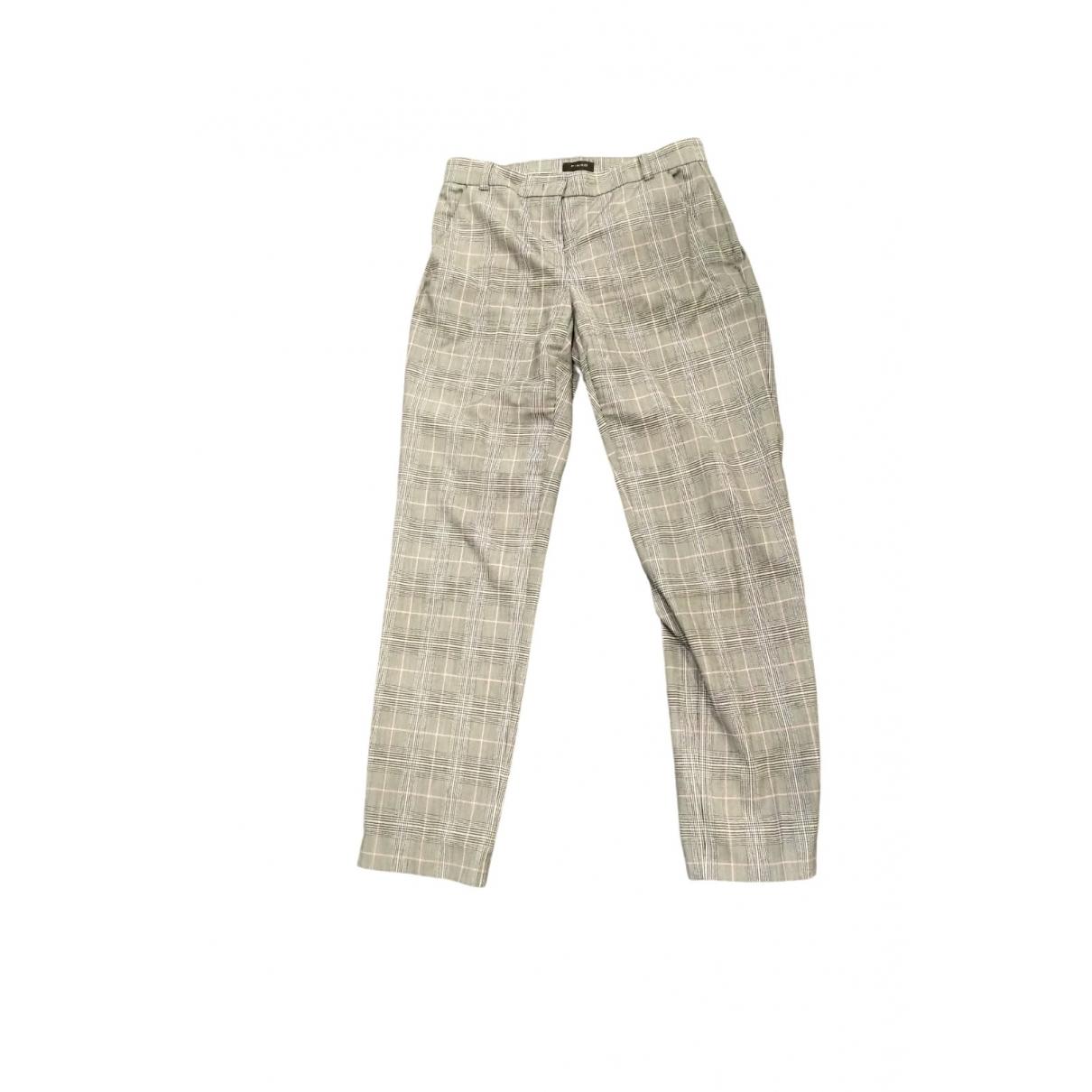 Pinko \N Black Trousers for Women 38 IT