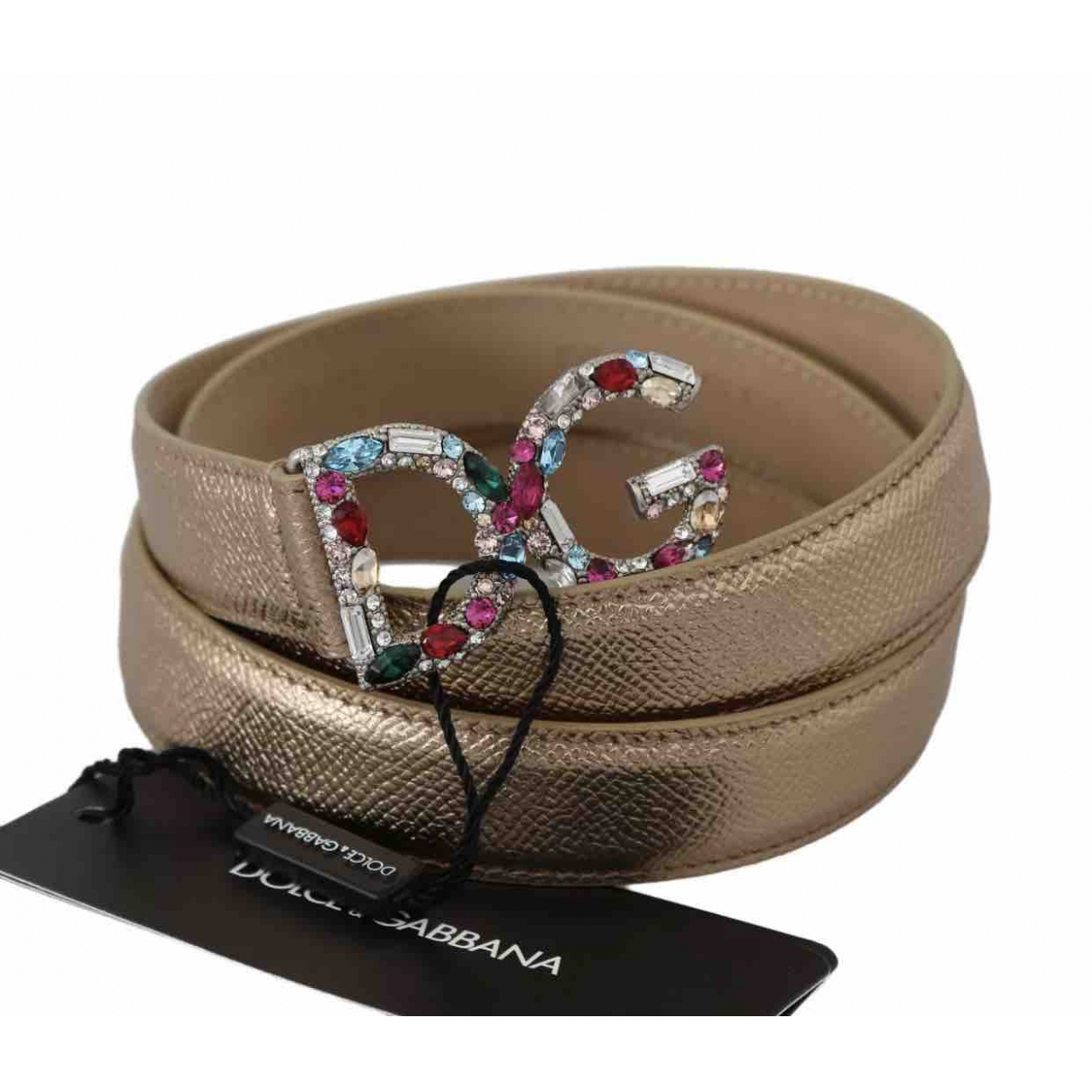 Dolce & Gabbana \N Gold Leather belt for Women 95 cm
