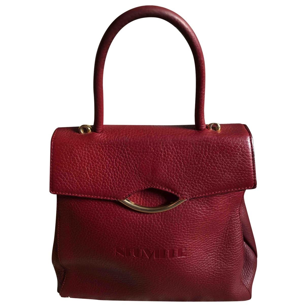 Neuville \N Burgundy Leather handbag for Women \N