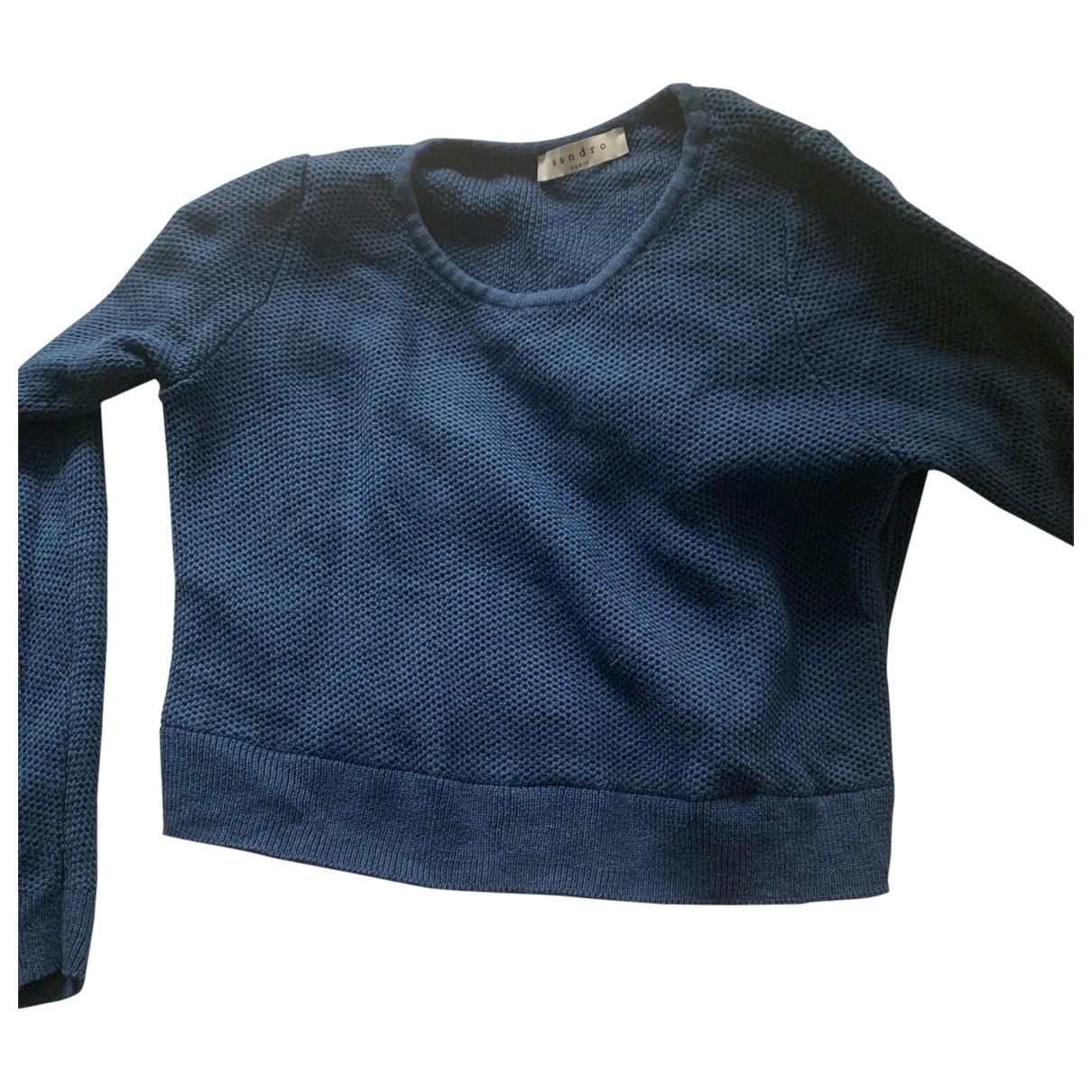 Sandro \N Blue Cotton Knitwear for Women 1 0-5