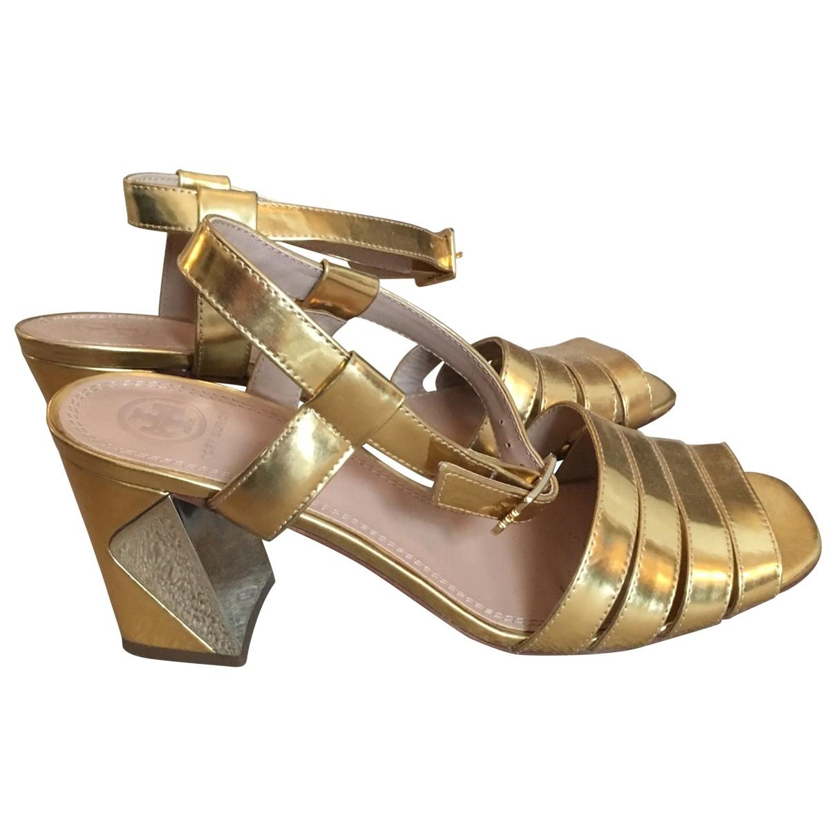 Tory Burch \N Gold Leather Heels for Women 40 EU