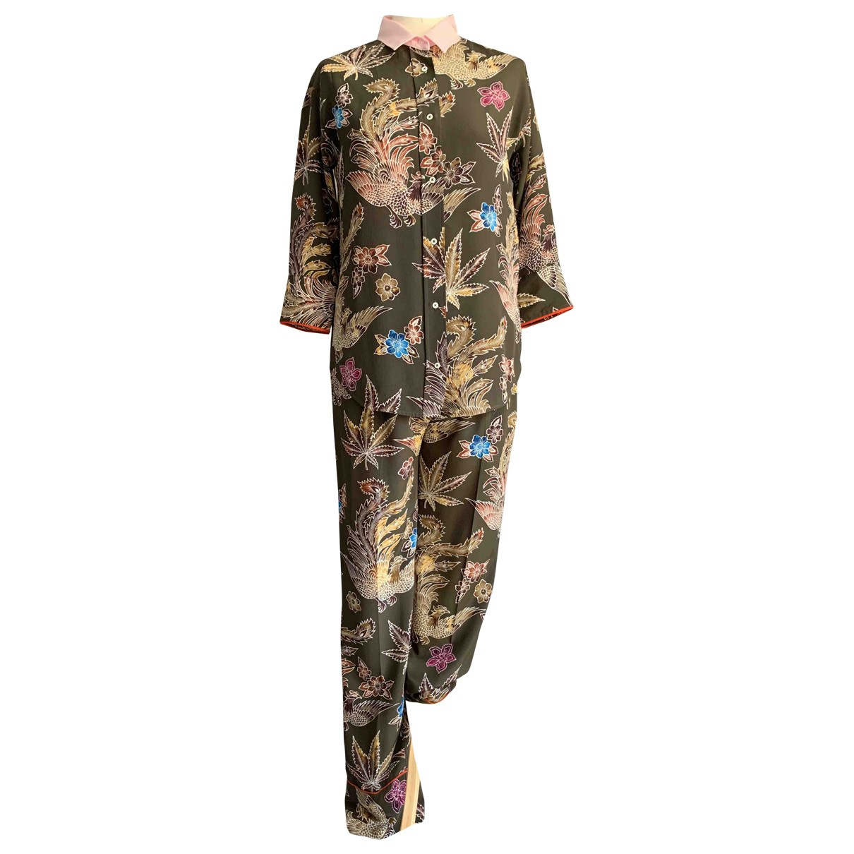 Sandro \N Multicolour Silk jumpsuit for Women 36 FR